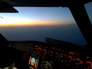 Sunrise at FL360