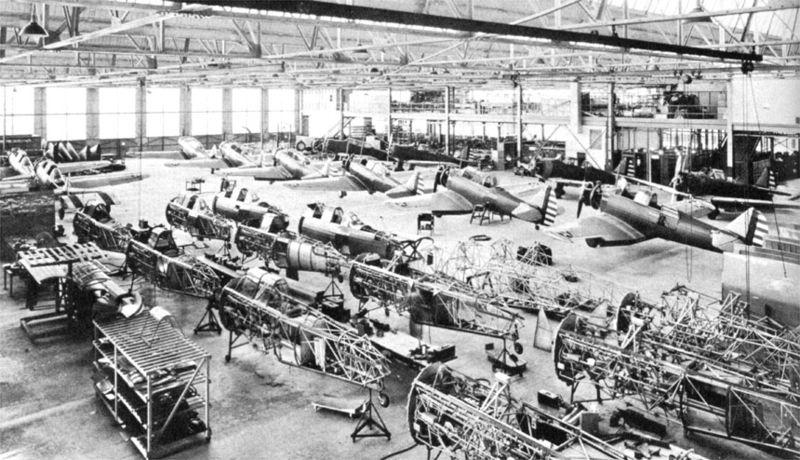 Chaîne de montage des BT-9 chez North American en 1936