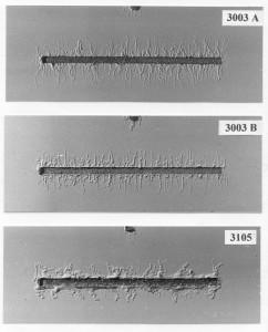 Corrosion filiforme de l'aluminium